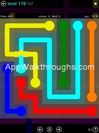 Flow Free Bridges Mania 7x7 Level 119