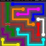 Flow Free Bridges 9x9 Level 4