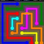Flow Free Bridges 9x9 Level 10