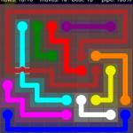 Flow Free Bridges 9x9 Level 19