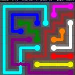 Flow Free Bridges 9x9 Level 23