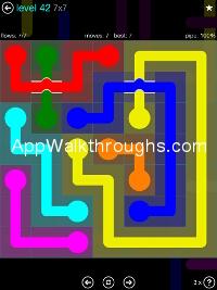 Flow Free Bridges Mania 7x7 Level 42