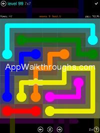 Flow Free Bridges Mania 7x7 Level 99