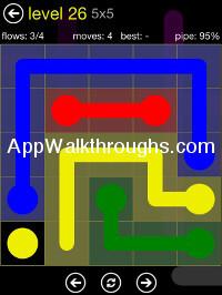 Flow Free 5x5 Level 26