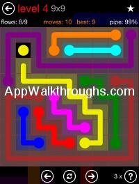 Flow Free 9x9 Mania Level 4
