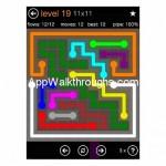 Flow Free Jumbo 11x11 Level 19