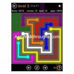 Flow Free Jumbo 11x11 Level 3